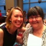 With romance fan Ruth Robertson, Literacy Signing, RWA National, July 2013.
