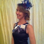 My stupendously silly homemade fascinator at Buns & Roses Tea, Oct. 21012.