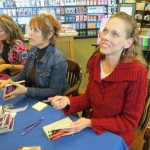 Signing at B&N, Park Mall, Arlington, Feb, 2013, with EE, Diane Kelly, Angi Morgan and Kat Cantrell.