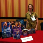 Selling out my books at RomCon2013.