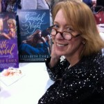 Hanging out with the delightful Leigh Evans (who took the pic) at Romantic TImes Convention signing, April 2013.