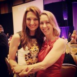 With critique partner and Golden Heart finalist Joanne Lockyer, RITA & Golden Heart Ceremony, RWA National, July 2013.